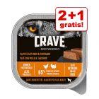 2 + 1 zdarma! 3 x 300 g  Crave Adult paštika pro psy 300 g