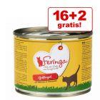 16 + 2 zdarma! 18 x 200 g Feringa Duo Menu  konzerva