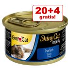 20 + 4 zdarma! 24 x 70 g GimCat ShinyCat Jelly