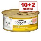 10 + 2 zdarma 12 x 85 g Gourmet Gold alebo Perle
