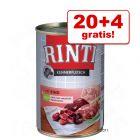 20 + 4 zdarma! 24 x 400 g RINTI Pur čisté maso