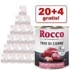20 + 4 zdarma! 24 x 800 g Rocco Classic Trio di Carne