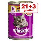 21 + 3 zdarma! 24 x 400 g Whiskas 1+ konzervy