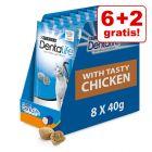 6 + 2 zdarma! 8 x 40 Purina Dentalife snack pečující o zuby s kuřecí příchutí za skvělou cenu!