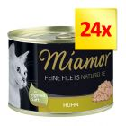 Zestaw Miamor Feine Filets Naturelle, 24 x 156 g