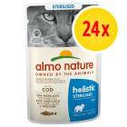 Zestaw Almo Nature Holistic Sterilised, 24 x 70 g