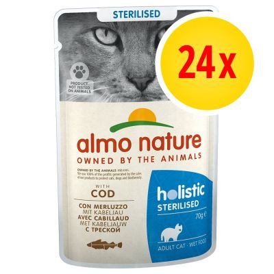 Zestaw Almo Nature Holistic Sterilised, 24 x 70 g