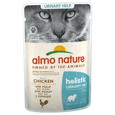 Zestaw Almo Nature Holistic Urinary Help, 24 x 70 g