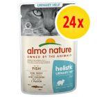 Zestaw Almo Nature Holistic Urinary Help, 24 x 70 g