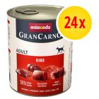 Zestaw Animonda GranCarno Original Adult, 24 x 800 g