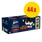 Zestaw Felix Tasty Shreds, 44 x 80 g