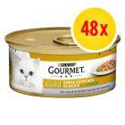 Zestaw Gourmet Gold Kawałki w sosie, 48 x 85 g