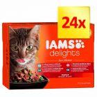 Zestaw IAMS Delights Adult Rybne smaki, 24 x 85 g