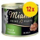 Zestaw Miamor Feine Filets w puszkach, 12 x 185 g
