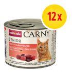 Zestaw mieszany Animonda Carny Senior, 12 x 200 g