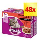 Zestaw mieszany Whiskas 1+ saszetki, 48 x 100 g