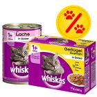 Zestaw mieszany Whiskas - 12 x 400 g puszki + 12 x 100 g saszetki