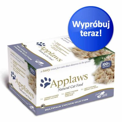 Zestaw próbny Applaws Cat Pot, 8 x 60 g