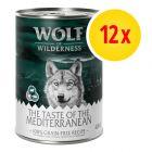 """Zestaw Wolf of Wilderness """"The Taste Of"""", 12 x 400 g"""