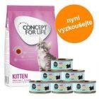 Zkušební balení pro koťata: 400 g Concept for Life  + Cosma Nature