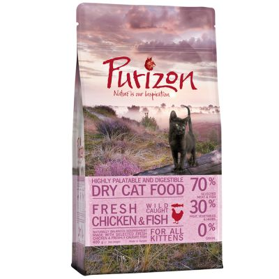 Zkušební set Kitten: Purizon 400 g  & Cosma Nature 6 x 70 g