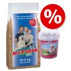 Znižana cena: 20 kg My Friend hrana + 500 g DogMio Snacks