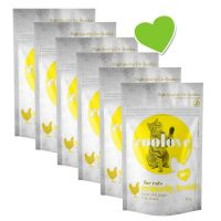 zoolove crunchy treats 6 x 60 g snacks para gatos - Pack Ahorro