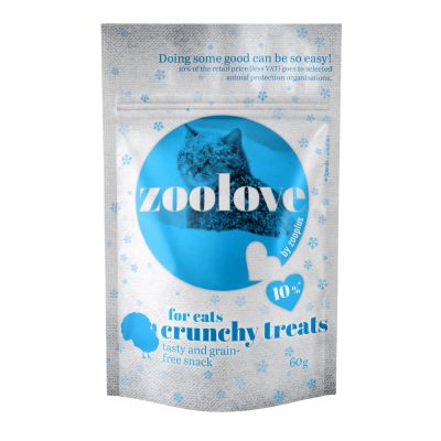 zoolove crunchy treats 6 x 60 g snacks para gatos - Pack Ahorro