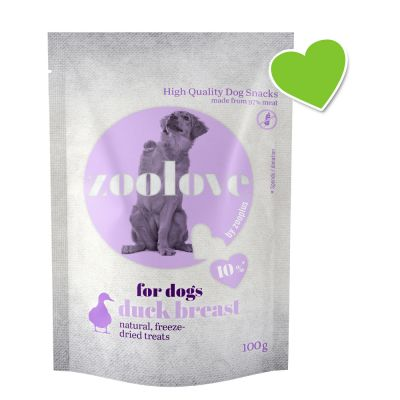 zoolove Freeze-dried Dog Treats – Duck Breast