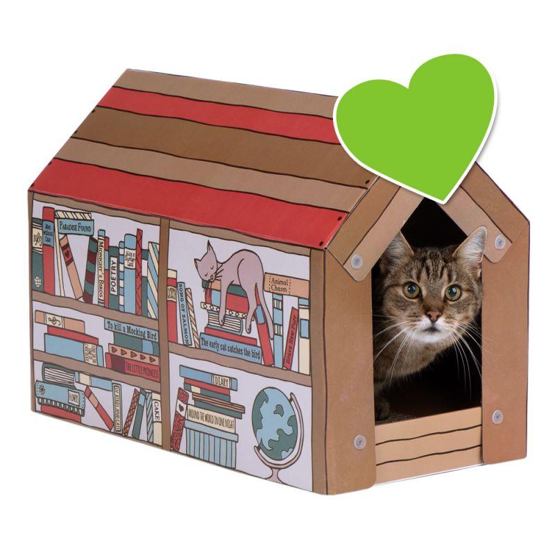 zoolove Home -kissanmökki, mukana raapimislauta