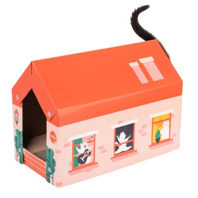 zoolove Kattenhuis Home incl. Krabplank - Winter