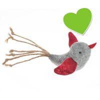 zoolove Katzenspielzeug Filzvogel