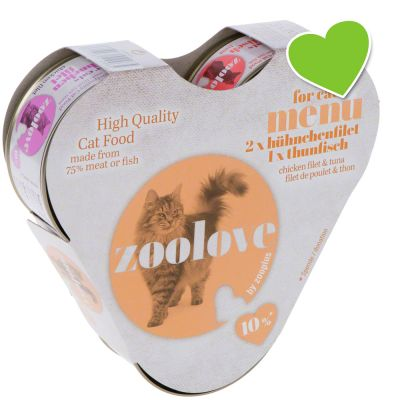 zoolove Wet Cat Food Taster Pack – Chicken & Tuna