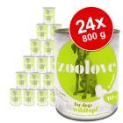 zoolove 24 x 800 g comida húmeda para perros - Pack Ahorro