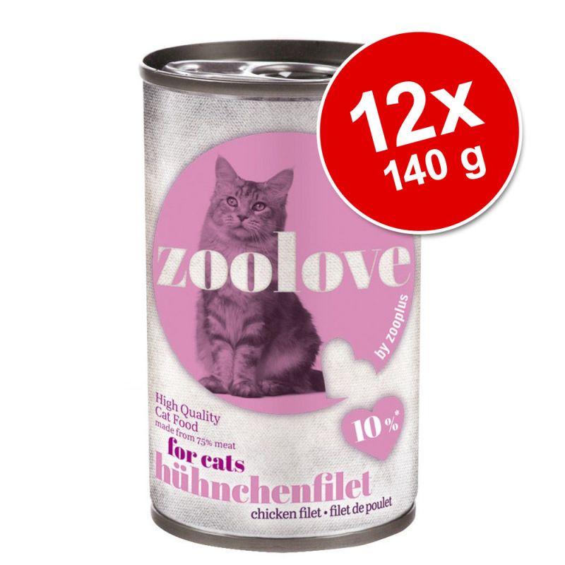 zoolove 12 x 140 g en latas para gatos - Pack Ahorro