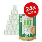 zooplus Bio Adult -säästöpakkaus 24 x 400 g
