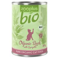 zooplus bio canard, courgettes pour chat