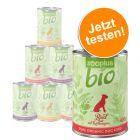 zooplus Bio gemischtes Probierpaket 6 x 400 g