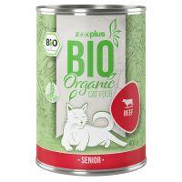 zooplus Bio Senior bœuf, potiron pour chat