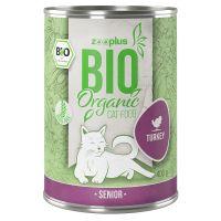 zooplus Bio Senior dinde, carottes pour chat