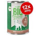 zooplus Bio Senza Cereali 12 x 400 g Alimento umido per cani