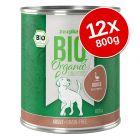 zooplus Bio Senza Cereali 12 x 800 g Alimento umido per cani
