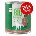 zooplus Bio Senza Cereali 24 x 800 g Alimento umido per cani