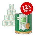 zooplus Bio 12 x 800 g Alimento umido per cani
