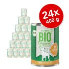 zooplus Bio 24 x 400 g Alimento umido per cani