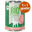 zooplus Bio 6 x 400 g comida ecológica en oferta: 5 + 1 ¡gratis!