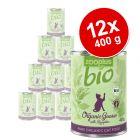 zooplus Bio 12 x 400 g comida ecológica para gatos - Pack Ahorro