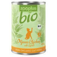zooplus Bio 1 x 400 g, poulet, carottes pour chat