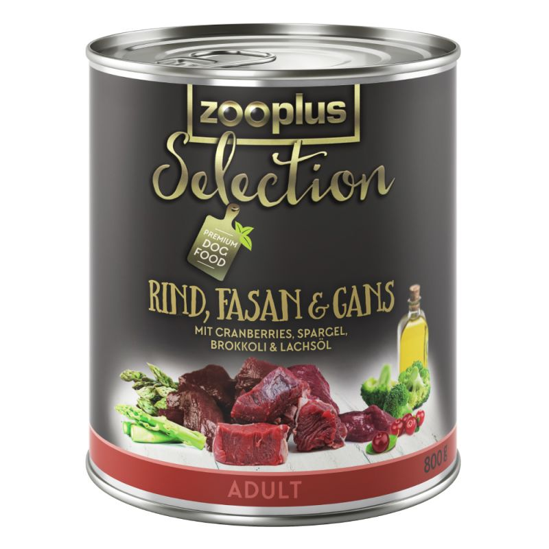 zooplus Selection Adult con vacuno, faisán y ganso