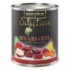 zooplus Selection Adult Vită, vânat & rață